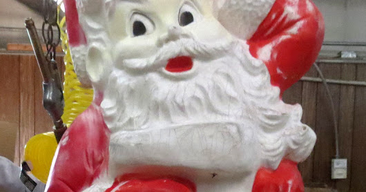 Vintage Santa Clause Gets a New Heart