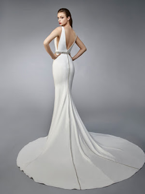 K'Mich Weddings - wedding planning - wedding dresses - grecian white open back dress - enzoani