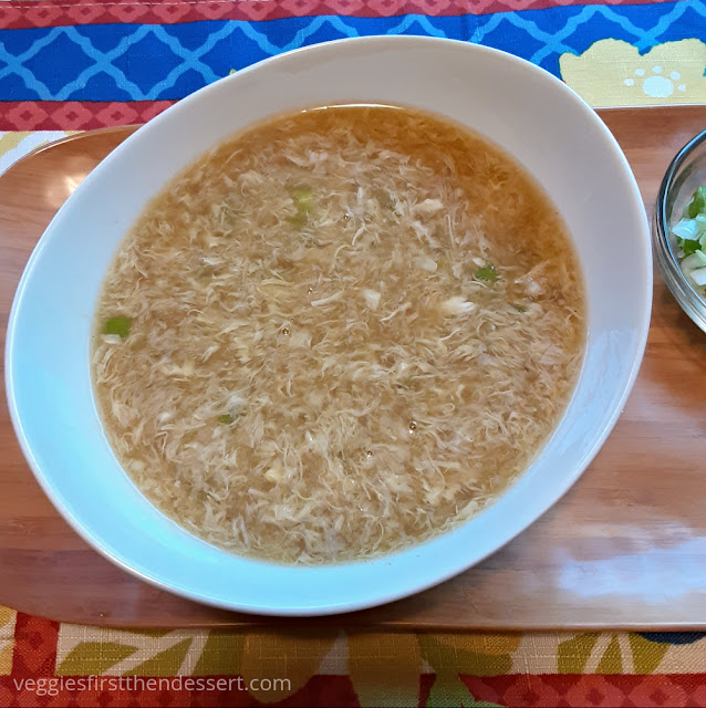 Veggies First Then Dessert: Egg Drop Soup