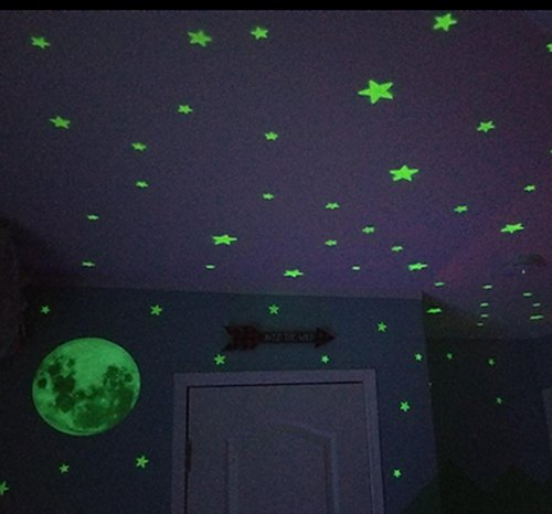 Glow Stars Supernova: 200 of the Brightest Glow in the Dark Stars  Outer space decor - space themed kids rooms - planets decor - astronaut wall murals  - outer space bedding - galaxy themed room decor - space themed bedding - planet wall decals - sci fi themed bedroom robots rockets monsters aliens - Star Wars Bedrooms -