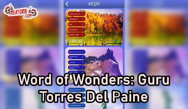 Words of Wonders: Guru Torres Del Paine Cevapları