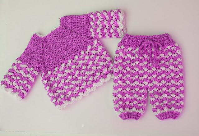 4 - Crochet Imagen Pantalón conjunto con jersey a crochet por Majovel Crochet
