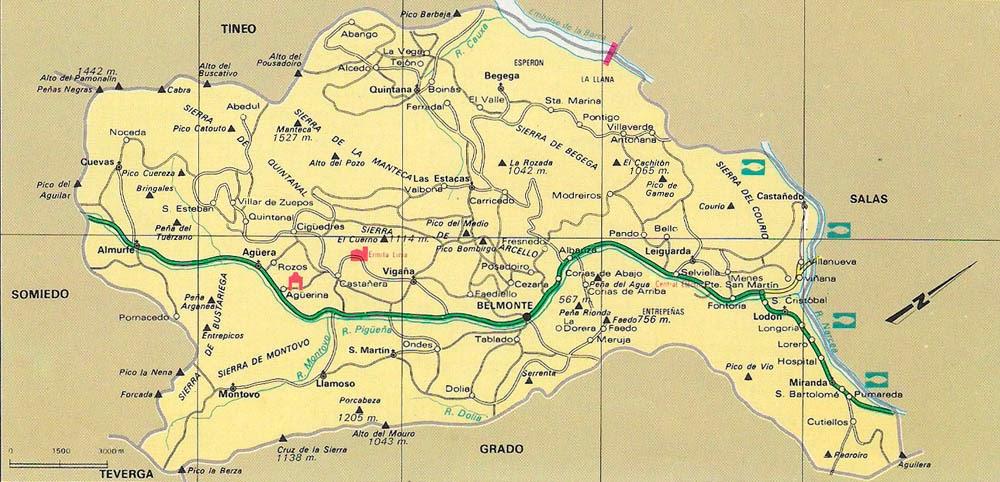 belmonte mapa Mapa del Concejo de Belmonte de Miranda | Así ye Asturias belmonte mapa