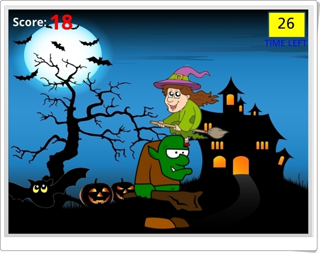 """Juegos de Halloween: """"Math Monsters"""" (Juego de Fracciones y Números Decimales equivalentes)"""