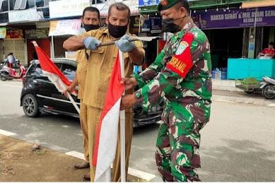 Dandim 0101/Aceh Besar Ajak Masyarakat Kibarkan Bendera Merah Putih Satu Bulan Penuh