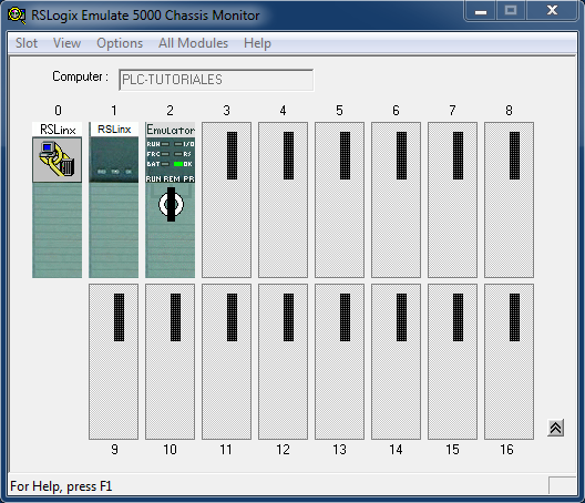 PLC simulado RSLogix Emulate 5000