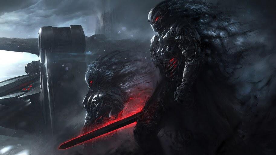 Sci-Fi, Soldiers, Warriors, Sword, 4K, #4.6