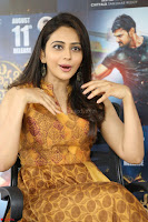 Rakul Preet Singh smiling Beautyin Brown Deep neck Sleeveless Gown at her interview 2.8.17 ~  Exclusive Celebrities Galleries 109.JPG