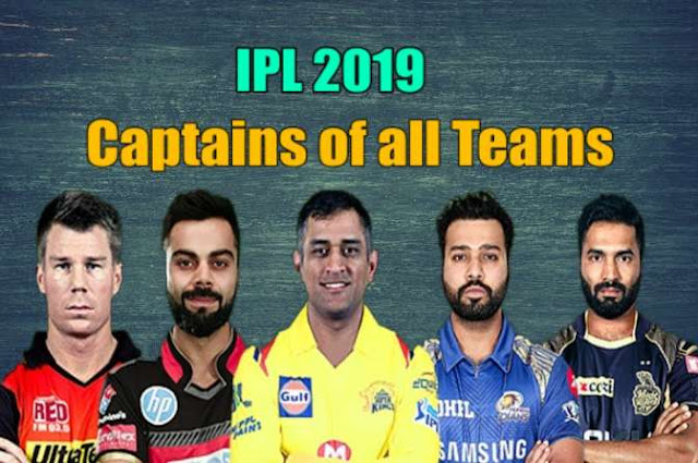 IPL 2019 Captains List
