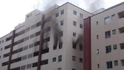 Celular explode, provoca incêndio e destrói dois apartamentos