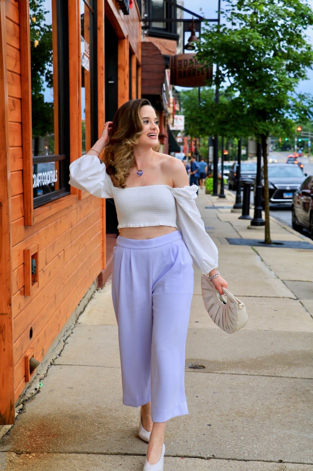 Nyc fashion blogger Kathleen Harper wearing a cute summer date night outfit.
