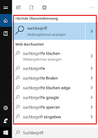 Windows-Suchbergriff