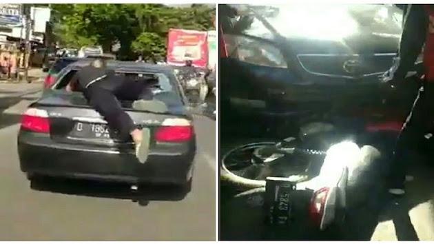 Mobilnya Kabur Sambil Seret Sepeda Motor Sejauh 200 Meter, Berikut Kronologi Kasus Tabrak Lari Viral di Bandung, Pengemudinya Wanita