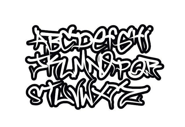 Graffiti letters, graffiti alphabet fonts