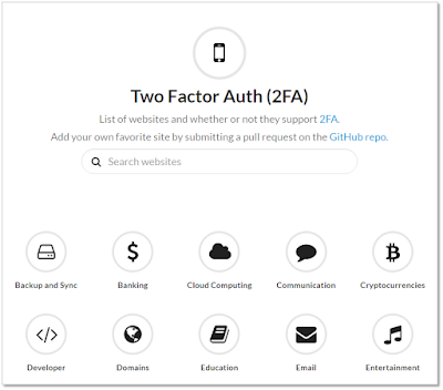 Lista de sites com Two Factor Auth (2FA)