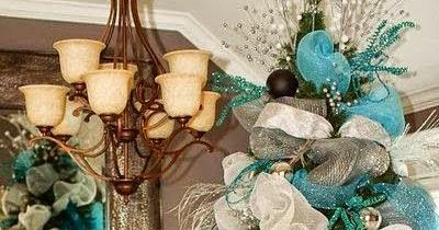 C mo decorar un rbol con mallas navide as - Como decorar un arbol de navidad azul ...