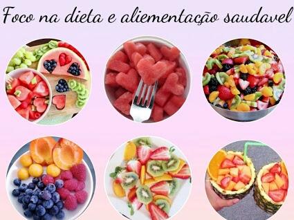 Dieta, fitnes, frutas pratos para dietas