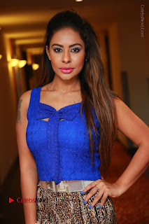 Telugu Actress Srilekha Reddy Latest HD Pos in Sleeveless Blue Top at Muse Art Gallery  0005.JPG