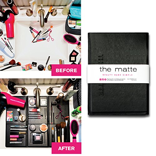 black portable makeup organizer for small bathrooms