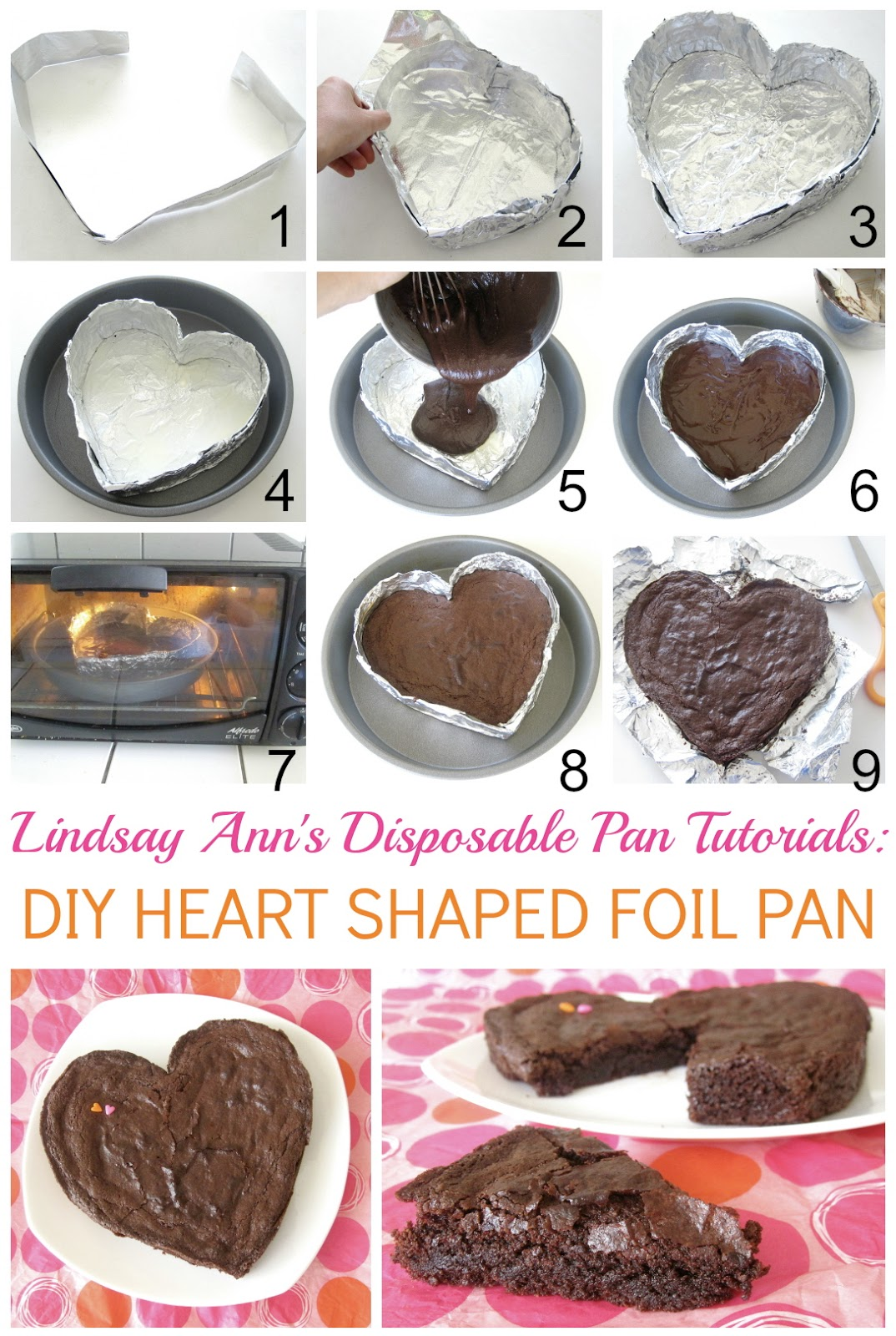 Fudgy Heart Shaped Brownie With A Diy Disposable Heart