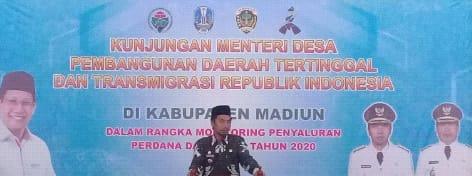 Kabupaten Madiun Jadi Daerah Pertama, Menyalurkan Dana Desa Tahun 2020