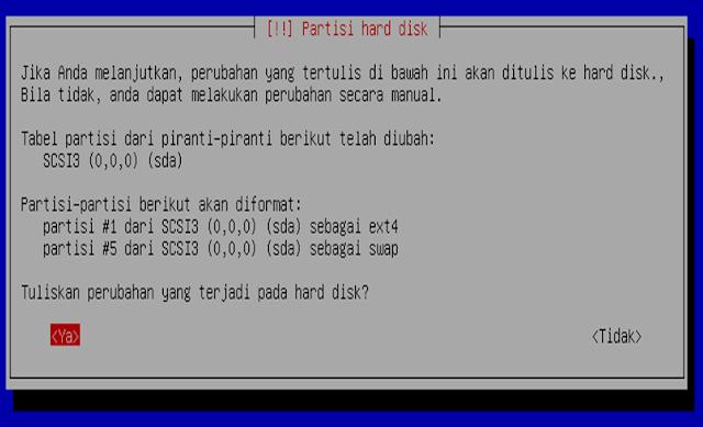 Instalasi Debian - Pilih Ya