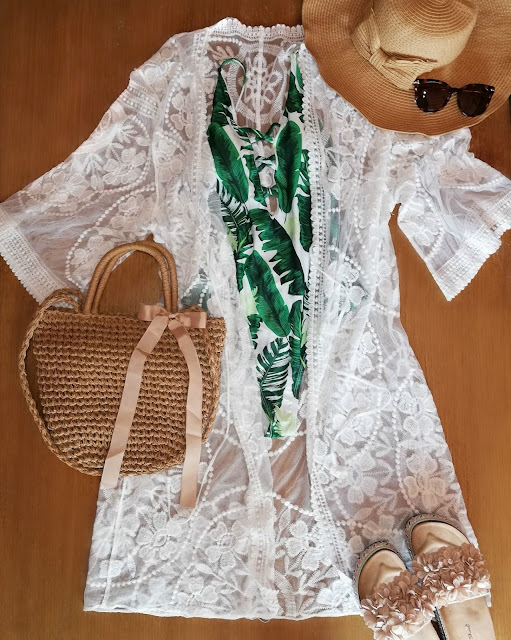 fashion, moda, kimono, bathing suit, sunglasses, naočale, sun, sunce, beach, plaža