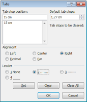 Tab Stop Position