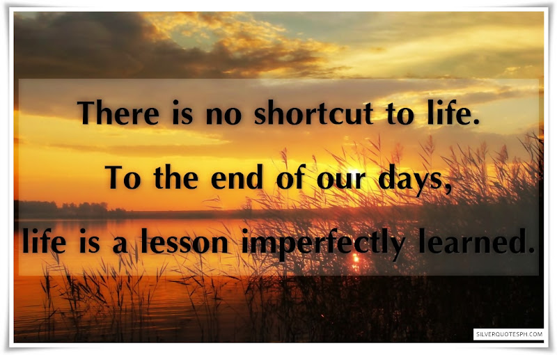There Is No Shortcut To Life