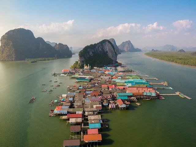 كوباني,كو باني تايلاند,تايلاند,Ko Panyi,قرية,بحر,قرية عائمة