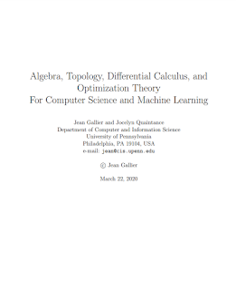 Algebra, Topology, Differential Calculus and Optimization Theory for Computer Science and Machine Learning Ebook Pdf