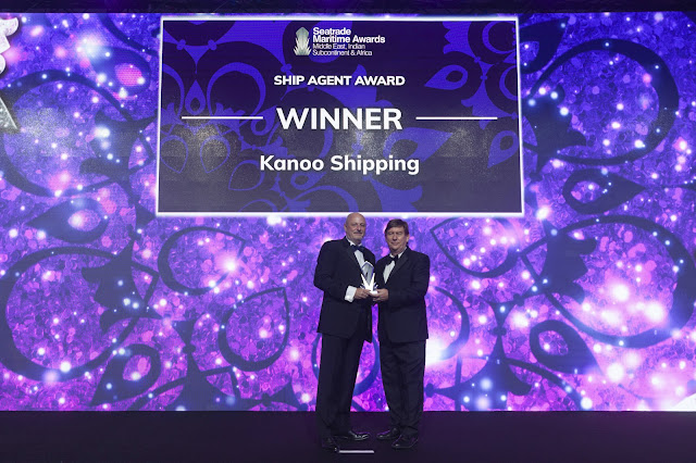 Kanoo Shipping wins Ship Agent Award 2019 at the Seatrade Maritime Awards held in Dubai, UAE