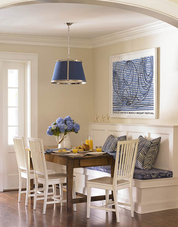 Trove interiors a closer look banquette seating - Built in kitchen banquette designs ...