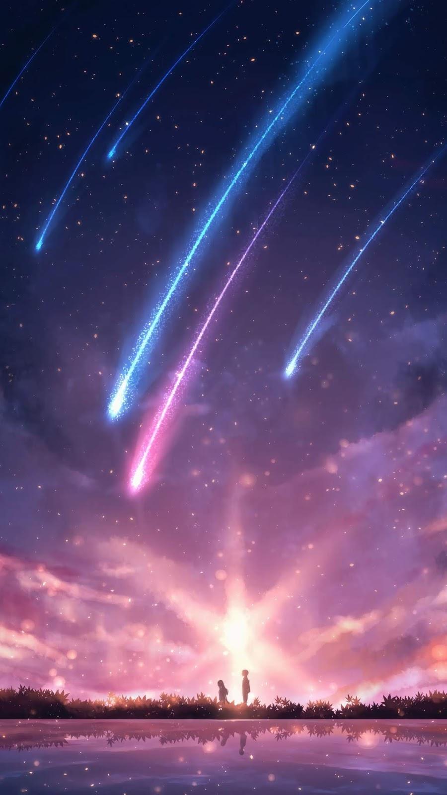 Starfall in the night