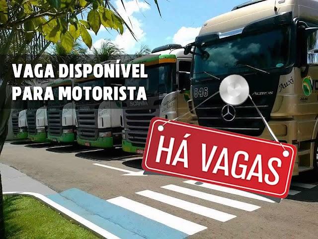 Vobeto Transportes abre vagas para Motorista categoria E.
