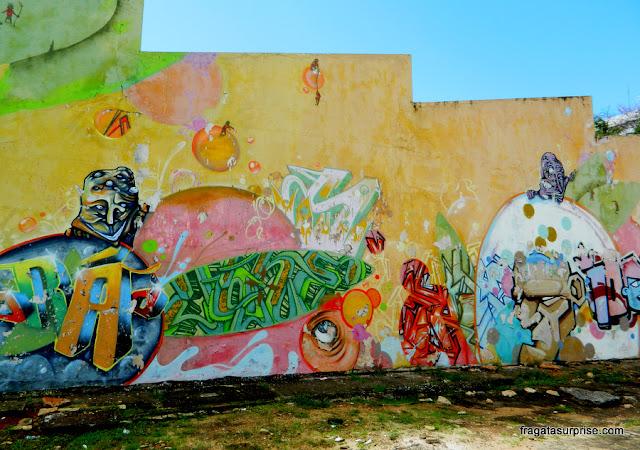 Grafites no Espaço Cultural Renato Russo, na 508 Sul, Brasília