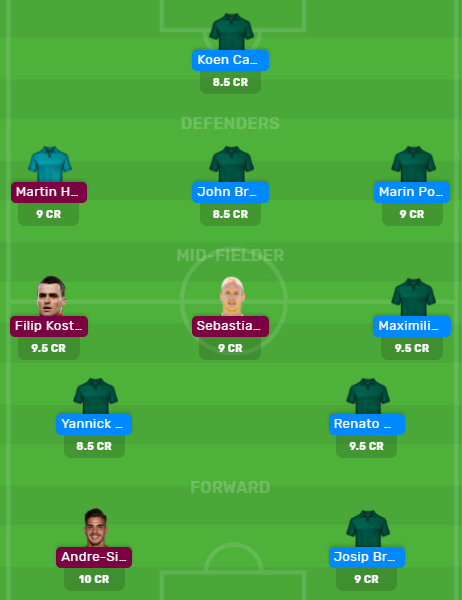 Bundesliga 2019/20: WFB vs EIN MyTeam11 and Dream11 Fantasy Football Team.