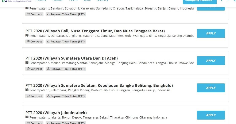 Lowongan Kerja Bpjs Kesehatan Ptt 2020 Nusa Tenggara Timur Lokasi Penempatan Kupang Maumere Ende Waingapu Atambua Lowongan Kerja Kupang