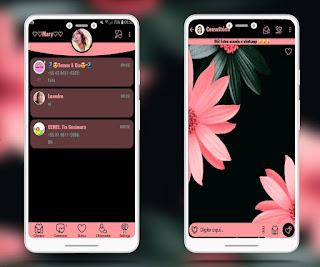 Black Flowers Theme For YOWhatsApp & Fouad WhatsApp By Mary Silva