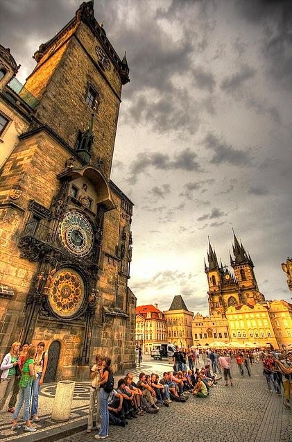 Iglesia  en La hermosa ciudad de Praga