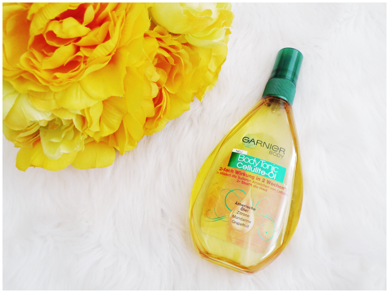 beauty | favorite five beauty products | april 2016 | body tonic cellulite öl | more details on my blog http://junegold.blogspot.de | life & style diary from hamburg | #beauty #garnier #bodyoil