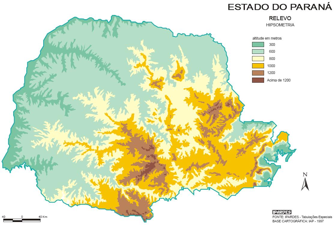 Relevo do Paraná