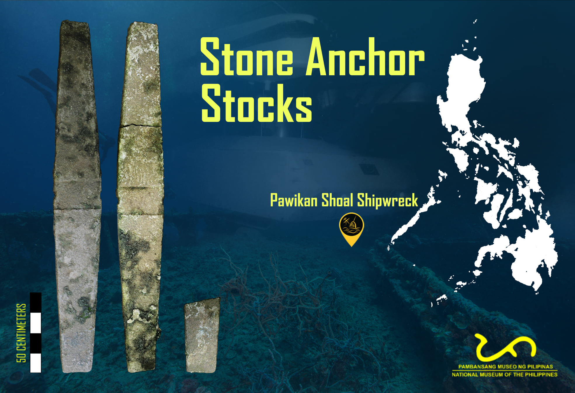 Stone Anchor Stocks from a Shipwreck at Pawikan (Investigator) Shoal, Palawan