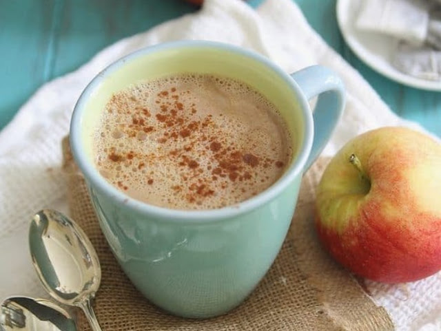 Cinnamon Apple Tea Latte #drinks #latte