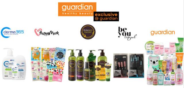 borong produk eksklusif brand dari guardian