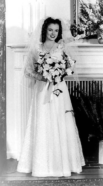 Marilyn Monroe vestido noiva 1942