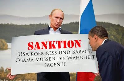 Lustiger politischer Spruch - Sanktionen gegen USA - Obama soll die Wahrheit sagen
