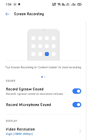 Screen Recording with sound