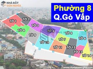Bản đồ quy hoạch lộ giới hẻm phường 8 quận Gò Vấp HCM