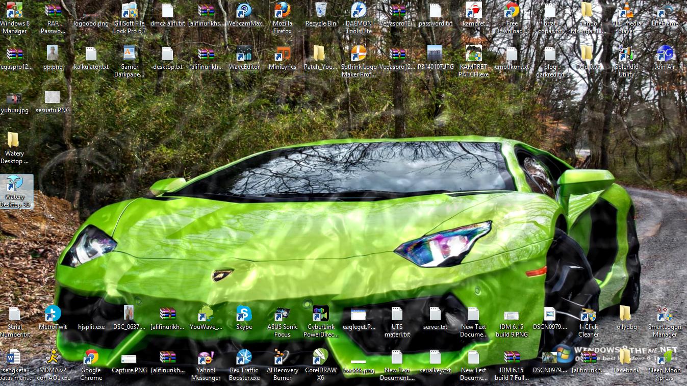 Watery Desktop 3D V39 Aplikasi Lucu Aneh Free Download Game Dan